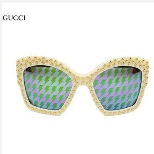 🆕 Gucci sunglasses 🕶 Thunderbolt white/green